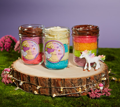 Unicorn Cupcakes in Jars As Seen on ABC's Shark Tank