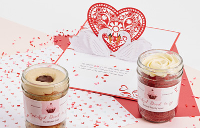 Valentine's Cupcakes in Jars As Seen on ABC's Shark Tank